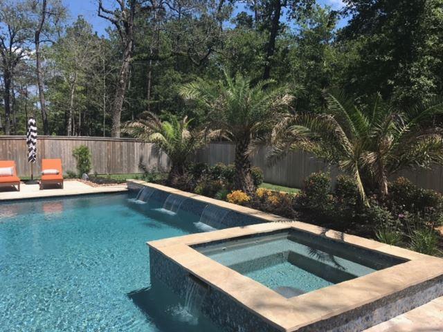 Landscaping Services Pool Landscape Design Houston Spring